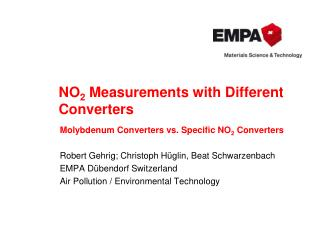 NO 2 Measurements with Different Converters