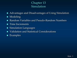 Chapter 13 Simulation