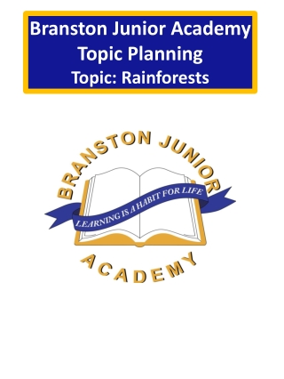 Branston Junior Academy Topic Planning Topic : Rainforests