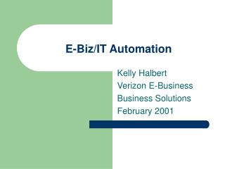 E-Biz/IT Automation