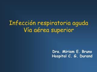 Infección respiratoria aguda Vía aérea superior