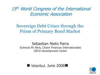 15 th World Congress of the International Economic Association