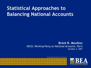 Statistical Approaches to Balancing National Accounts