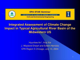 Integrated Assessment of Climate Change Impact in Typical Agricultural River Basin of the Midwestern US
