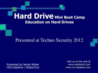 Hard Drive Mini Boot Camp Education on Hard Drives