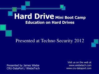 Hard Drive Mini Boot Camp Education on Hard Drives