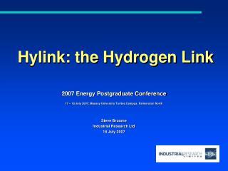 Hylink : the Hydrogen Link