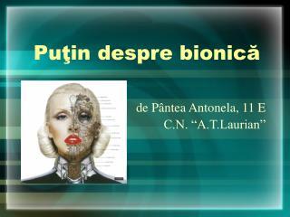 Puţin despre bionică