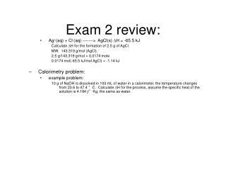 Exam 2 review: