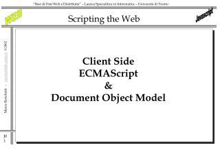 Scripting the Web