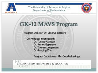 The University of Texas at Arlington Department of Mathematics