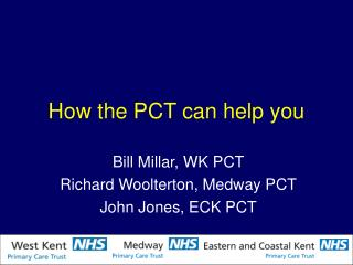 How the PCT can help you