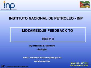 March, 15 – 19 th 2011 Rio de Janeiro, Brazil