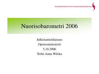 Nuorisobarometri 2006
