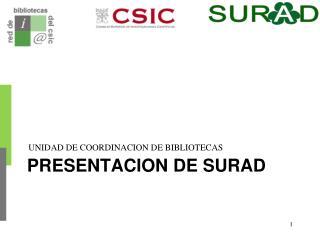 PRESENTACION DE SURAD