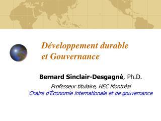 Développement durable et Gouvernance