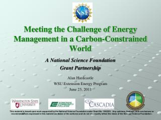 Meeting the Challenge of Energy Management in a Carbon-Constrained World