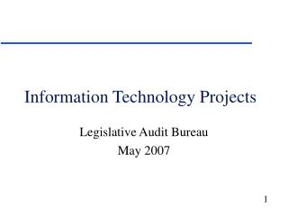 Information Technology Projects
