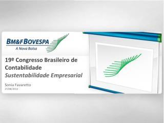 19º Congresso Brasileiro de Contabilidade Sustentabilidade Empresarial