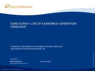 ICAN3 SURVEY: LIFE OF A SANDWICH GENERATION CAREGIVER