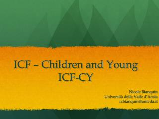 ICF   Children and Young ICF-CY