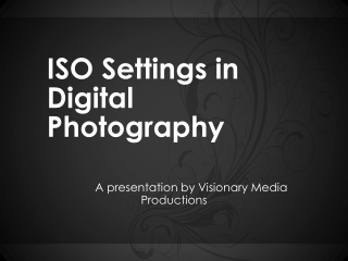 Iso settings in digital photography