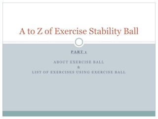 New exercise ball 55, 65 and 75 cm exclusive to Amazon.com