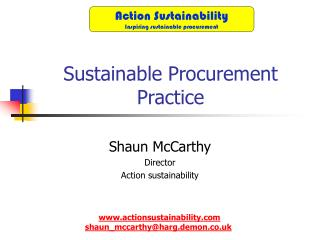 Sustainable Procurement Practice
