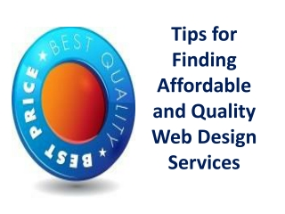 Tips for Finding Affordable and Quality Web Design Services