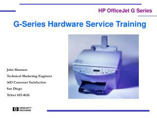 G-Series Hardware Service Training
