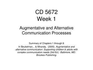 CD 5672 Week 1