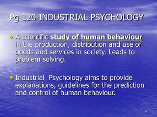 Pg 120 INDUSTRIAL PSYCHOLOGY