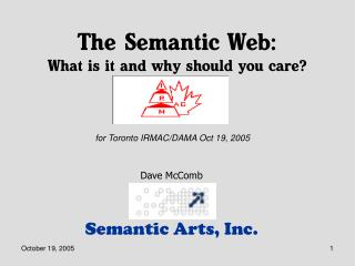 The Semantic Web: What is it and why should you care?