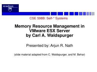 CSE 598B: Self-* Systems