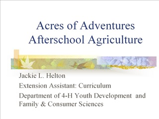 acres of adventures afterschool agriculture