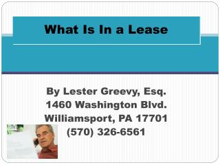 What Is In a Lease