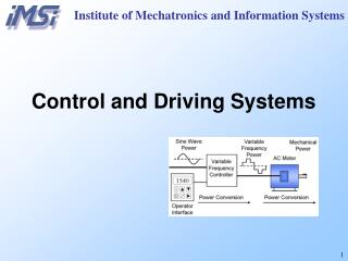 Institute of Mechatronics and Information Systems