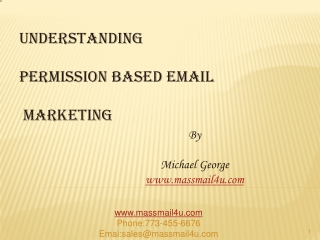 UNDERSTANDING PERMISSION BASED EMAIL MARKETING