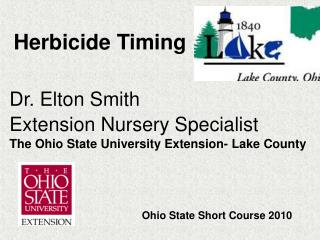 Herbicide Timing