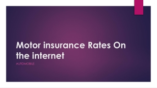 Motor insurance Rates On the internet