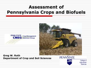 Assessment of  Pennsylvania Crops and Biofuels