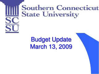 Budget Update March 13, 2009