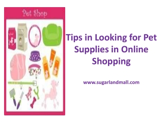 Tips in Looking for Pet Supplies in Online Shopping