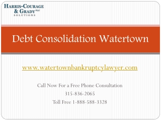 Chapter 7, 13 Bankruptcy Lawyer Watertown