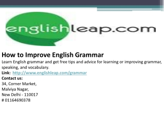 How to Improve English Grammar