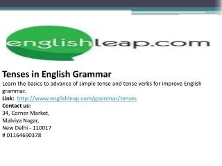 Tenses in English Grammar