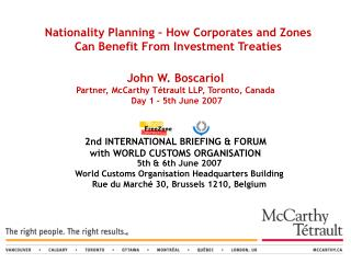 2nd INTERNATIONAL BRIEFING & FORUM with WORLD CUSTOMS ORGANISATION