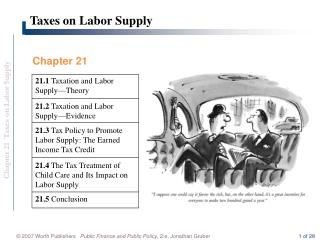 Taxes on Labor Supply