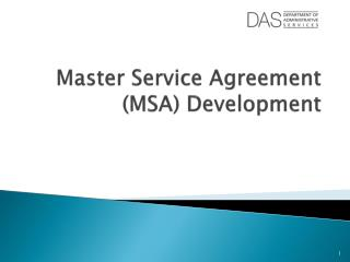 Master Service Agreement (MSA) Development