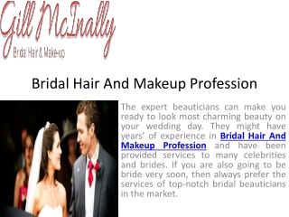 Always choose right bridal hair and makeup to become a perfe